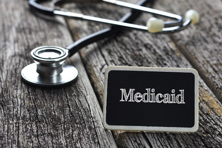 medicaid sign with stethoscope